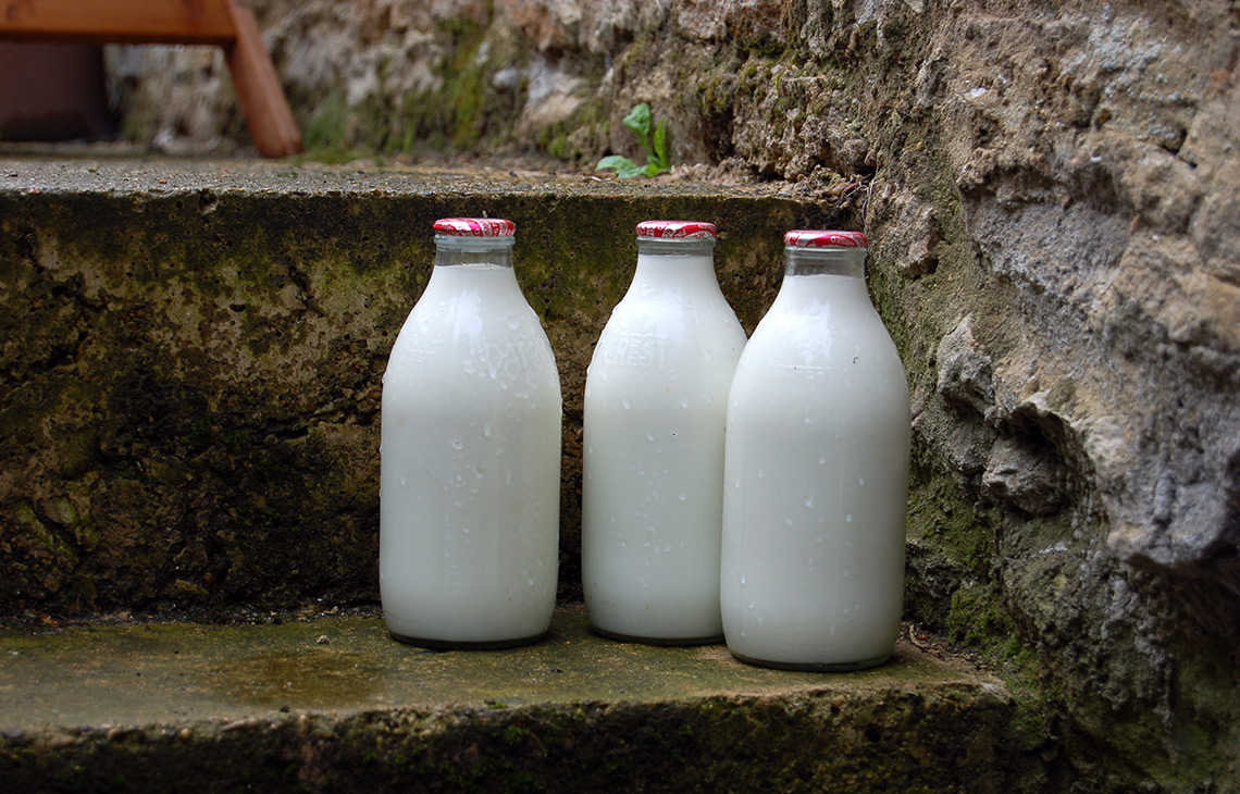 Is the traditional glass milk bottle reviving?